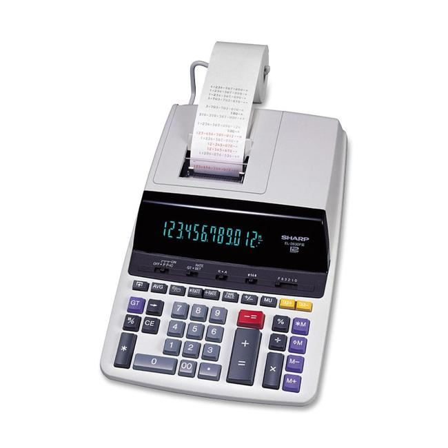 Sharp EL-2630PIII 12 Digit Commercial Printing Calculator