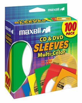 Maxell 190132 100discs Multicolor optical disc case