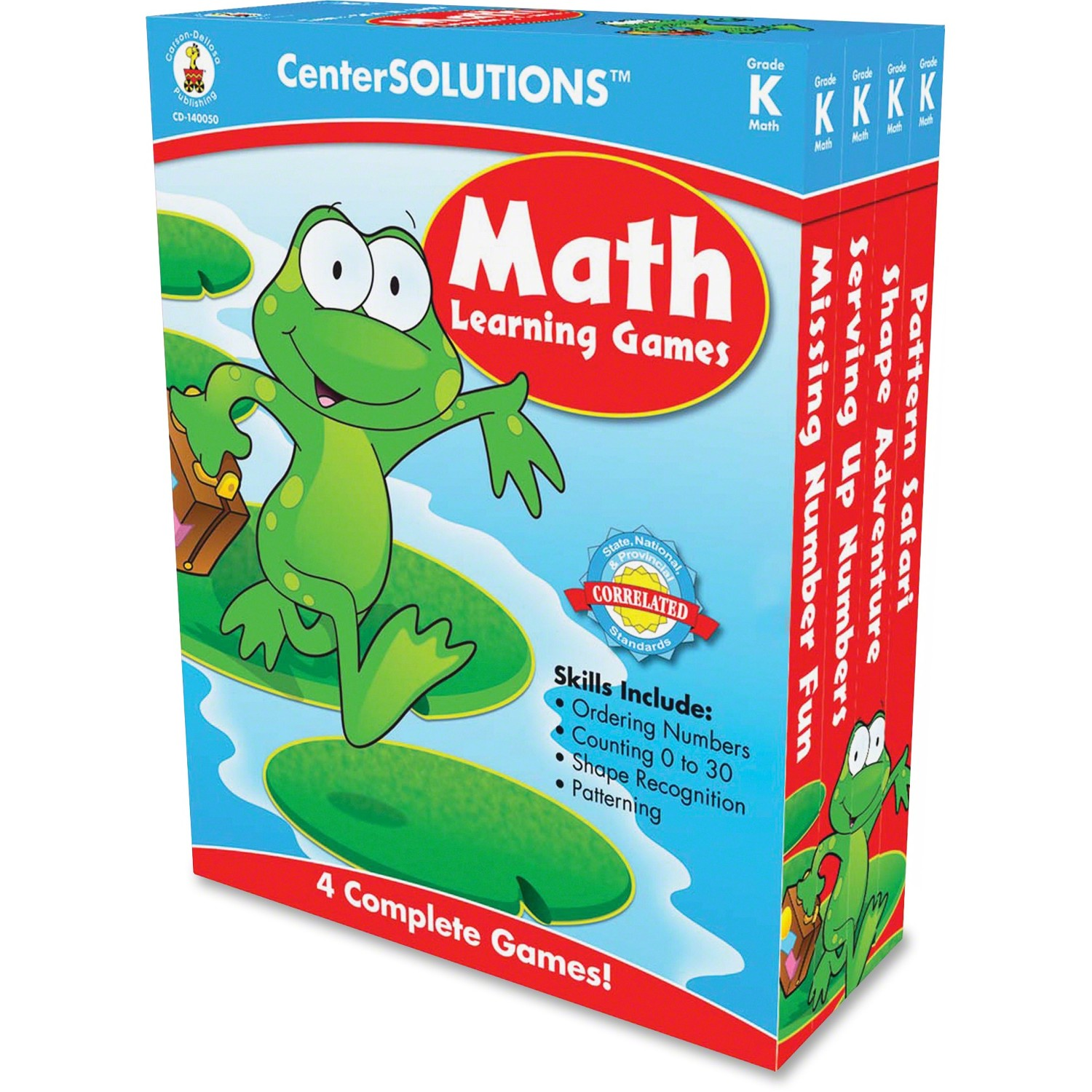 CenterSOLUTIONS Grade K CenterSolutions Math Learning Games